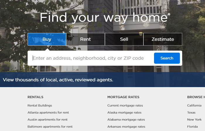 Search Box for Real Estate Property Listing