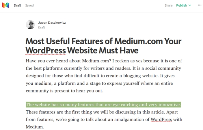 Create a Story on Medium