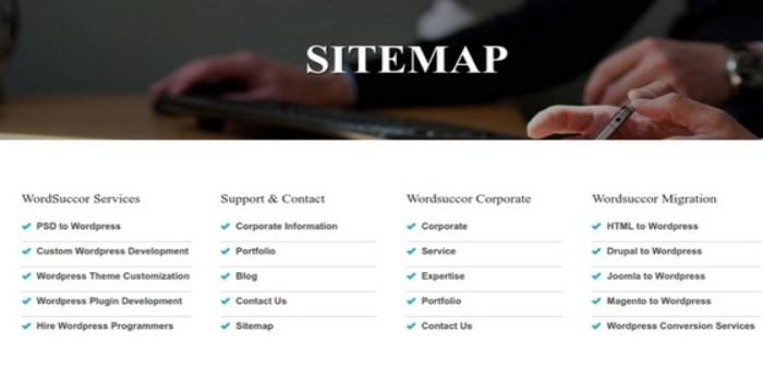 Sitemap WordSuccor