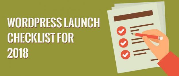 WordPress Launch Checklist For 2018