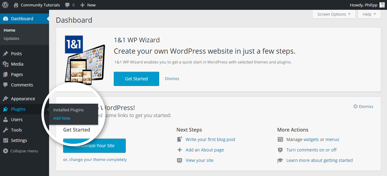 Wordpress plugins installation
