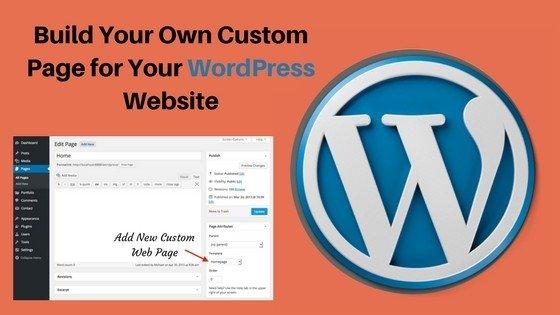 Add custom page in WordPress