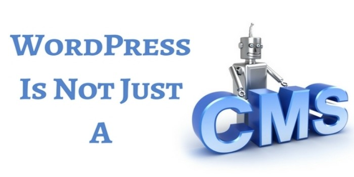 Wordpress is not just a CMS