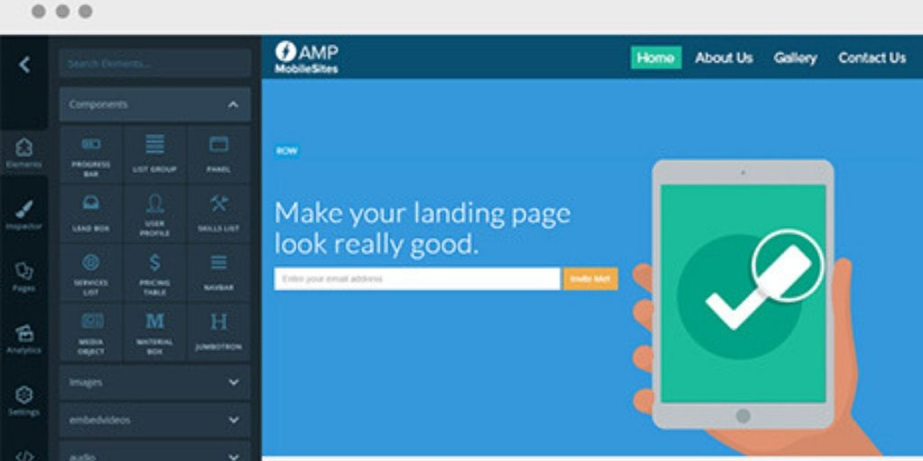 Launch AMP Page Builder