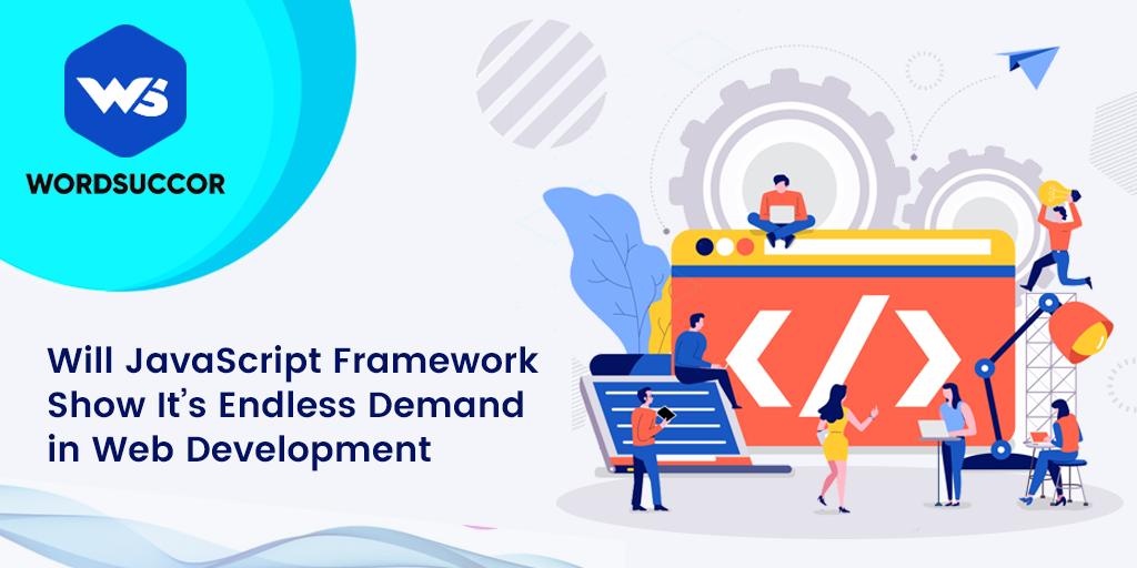 JavaScript framework demand in Web development